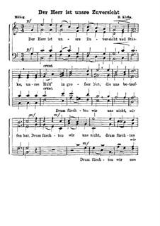Der Herr ist unsere Zufersicht: Singpartitur by Bernhard Klein