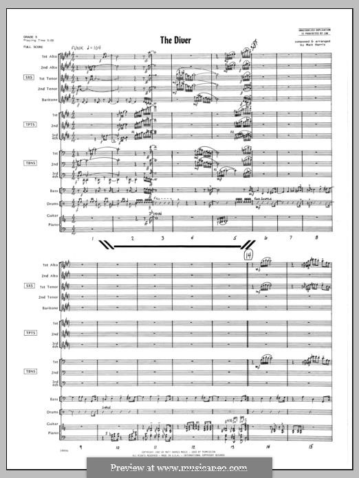 The Diver: partitura completa by Matthew Harris