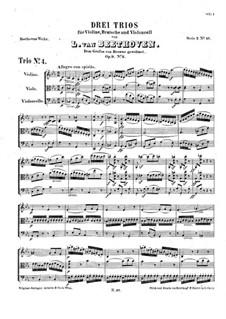 String Trio No.5 in C Minor, Op.9 No.3: Partitura completa by Ludwig van Beethoven