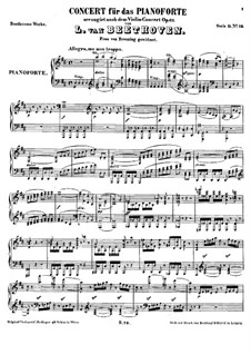 Concerto for Violin and Orchestra in D Major, Op.61: versão para piano by Ludwig van Beethoven
