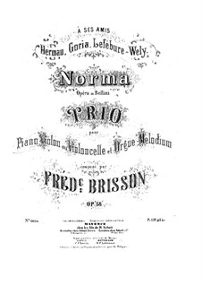 Fantasia on Themes from 'Norma' by Bellini, Op.58: parte piano by Frédéric Brisson