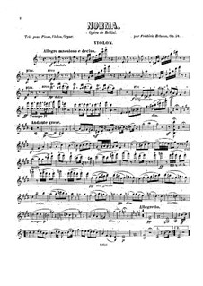 Fantasia on Themes from 'Norma' by Bellini, Op.58: parte do violino by Frédéric Brisson
