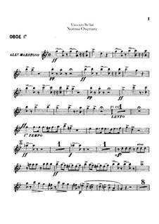 Overture: parte de oboes by Vincenzo Bellini