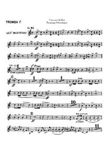Overture: parte trompetas by Vincenzo Bellini
