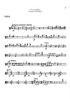 Overture: parte viola by Vincenzo Bellini