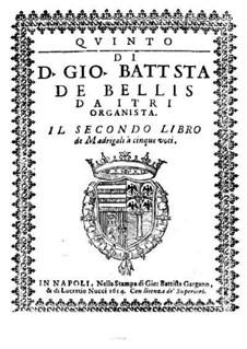 Madrigals for Five Voices: Book II – voice part by Giovanni Battista de Bellis