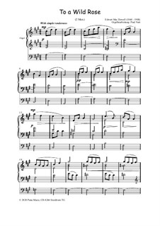 No.1 To a Wild Rose: para orgãos, Op.36 by Edward MacDowell