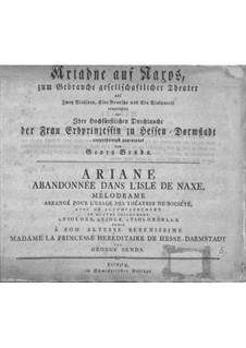 Ariadne auf Naxos für Stimmen und Streicher: Ariadne auf Naxos für Stimmen und Streicher by Jiří Antonín Benda