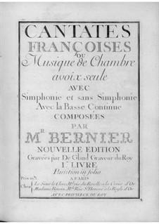 Cantates for Voice and Basso Continuo: livro I by Nicolas Bernier