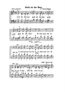 Gross ist der Herr: Singpartitur by Carl Friedrich Rungenhagen