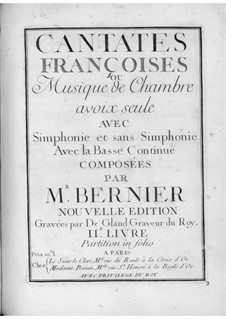 Cantates for Voice and Basso Continuo: livro II by Nicolas Bernier
