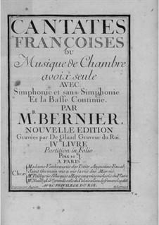 Cantates for Voice and Basso Continuo: livros IV by Nicolas Bernier