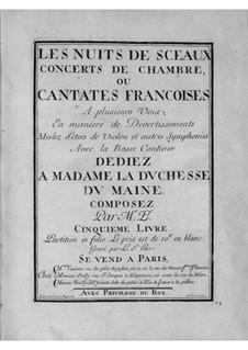 Cantates for Voice and Basso Continuo: livro V by Nicolas Bernier
