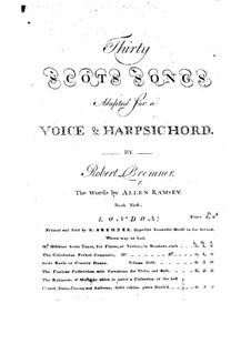 Scots Songs for Voices and Harpsichord: livro I by Robert Bremner