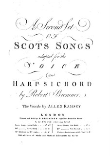 Scots Songs for Voices and Harpsichord: livro II by Robert Bremner