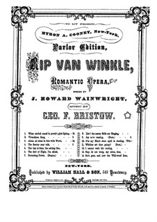 Rip Van Winkle, Op.22: Alone, All Alone in this Wide World of Sorrow (for voice and piano) by George Frederick Bristow