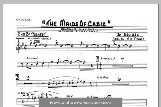 Les filles de Cadix: 2nd Bb Trumpet part by Léo Delibes