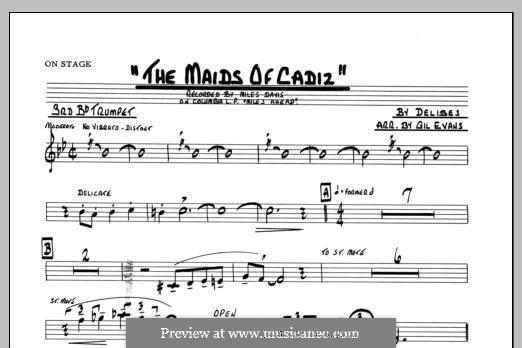 Les filles de Cadix: 3rd Bb Trumpet part by Léo Delibes