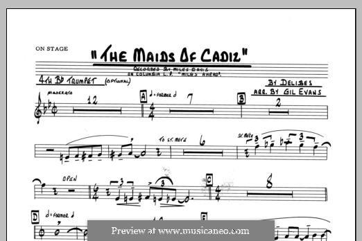 Les filles de Cadix: 4th Bb Trumpet part by Léo Delibes