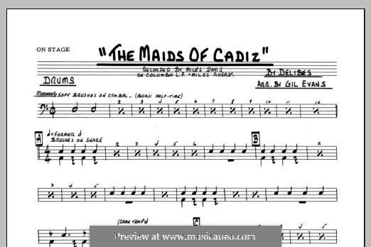 Les filles de Cadix: Drums part by Léo Delibes