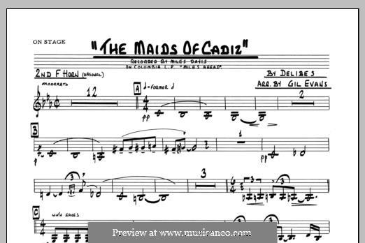 Les filles de Cadix: 2nd F Horn part by Léo Delibes
