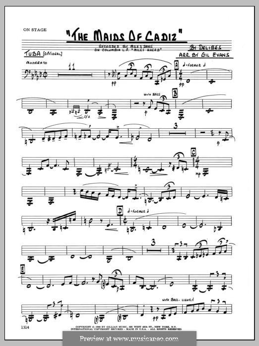 Les filles de Cadix: Tuba, partes by Léo Delibes