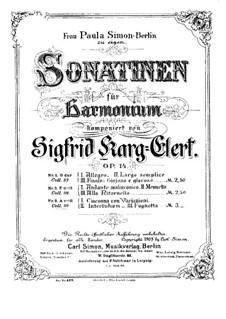 Sonatina for Harmonium No.3 in A Minor, Op.14: Sonatina for Harmonium No.3 in A Minor by Sigfrid Karg-Elert