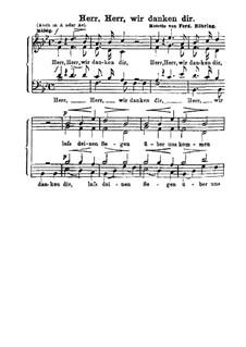 Herr wir danken dir: Singpartitur by Ferdinand Möhring