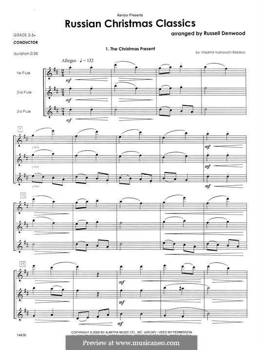 Russian Christmas Classics: partitura completa by Vladimir Ivanovich Rebikov