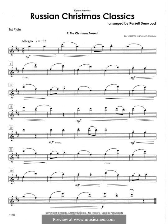 Russian Christmas Classics: 1st Flute part by Vladimir Ivanovich Rebikov