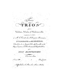Three String Trios, Op.4: parte viola by Jan Baptysta Kleczyński
