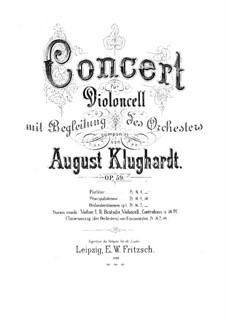 Concerto in A Minor, Op.59: Partitura completa by August Klughardt