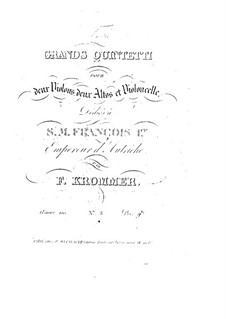 String Quintet in D Minor, Op.100: String Quintet in D Minor by Franz Krommer