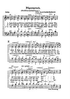Pilgerspruch (Schülerentlassung): Pilgerspruch (Schülerentlassung) by Felix Mendelssohn-Bartholdy
