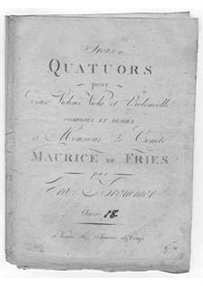 Three String Quartets, Op.18: Três Quartetos de Cordas by Franz Krommer