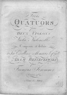 Three String Quartets, Op.26: Três Quartetos de Cordas by Franz Krommer