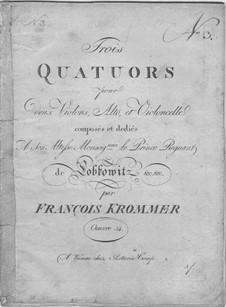 Three String Quartets, Op.34: violino parte I by Franz Krommer