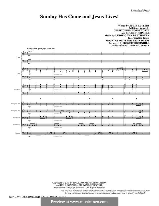 Sunday Has Come and Jesus Lives!: partitura completa by Ludwig van Beethoven