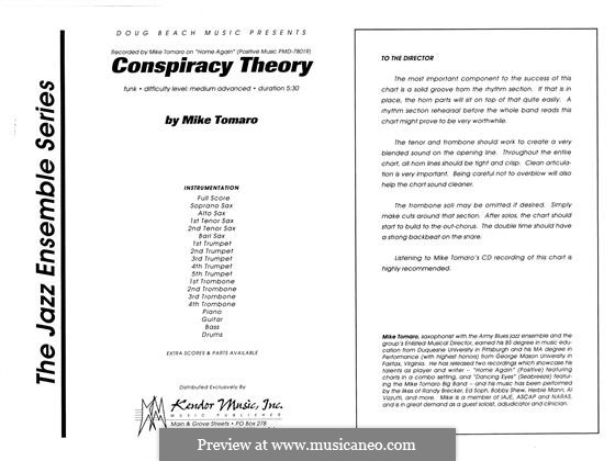 Conspiracy Theory: partitura completa by Mike Tomaro