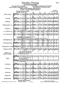 Artists' Procession for the Schiller Celebration, S.114: Partitura completa by Franz Liszt