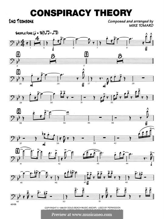 Conspiracy Theory: 2nd Trombone part by Mike Tomaro