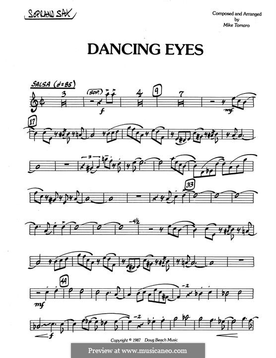 Dancing Eyes: Bb Soprano Sax part by Mike Tomaro