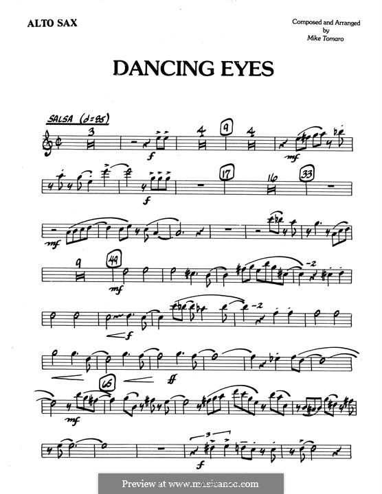 Dancing Eyes: Eb Alto Saxophone part by Mike Tomaro