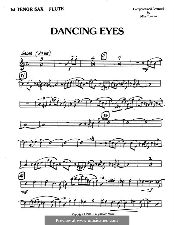 Dancing Eyes: 1st Tenor Saxophone part by Mike Tomaro
