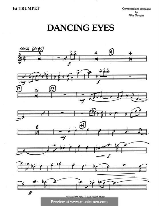 Dancing Eyes: 1st Bb Trumpet part by Mike Tomaro