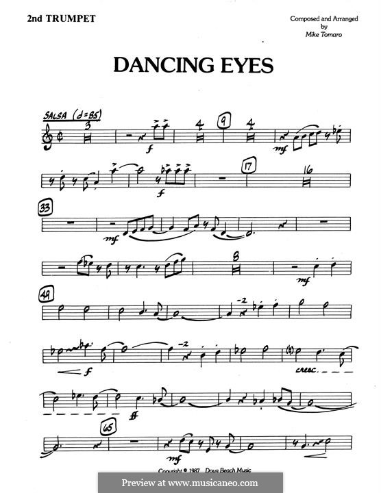 Dancing Eyes: 2nd Bb Trumpet part by Mike Tomaro