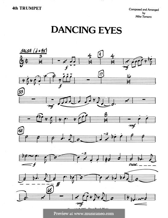 Dancing Eyes: 4th Bb Trumpet part by Mike Tomaro