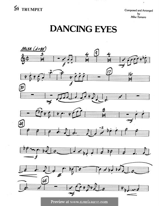 Dancing Eyes: 5th Bb Trumpet part by Mike Tomaro