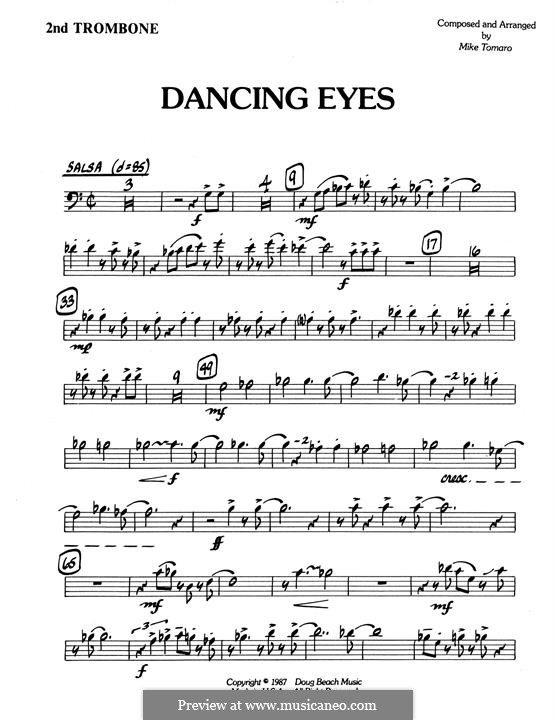 Dancing Eyes: 2nd Trombone part by Mike Tomaro