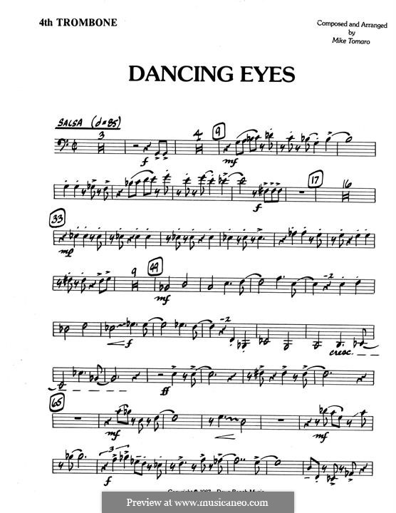 Dancing Eyes: 4th Trombone part by Mike Tomaro